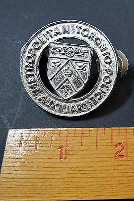 RARE OLD Vintage Canada Badge Toronto Metropolitan Police - Auxiliary - Canadian