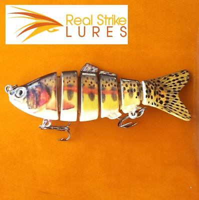 10cm swimbait Fishing lure Trout Redfin Murray Cod Yellowbelly Perch