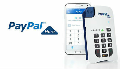 PayPal Here Bluetooth Mobile Chip & PIN Card Reader Credit Debit for iPad iPhone