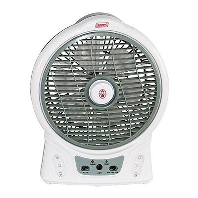 "Coleman 12"" Rechargeable Fan / LED Light"