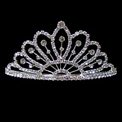 Bridal Wedding Prom Rhinestone Crystal Crown Comb Tiara Headband Pageant Jewelry