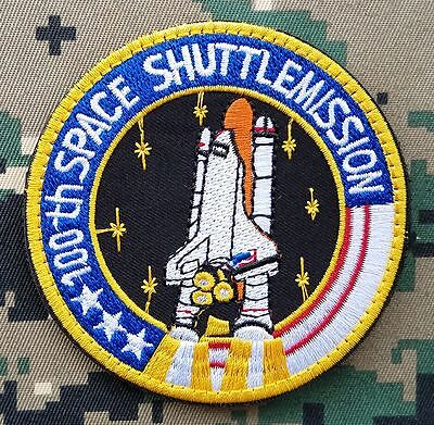 100Th Space Shuttle Mission Solar System Space Program Astronaut Spaceship Patch