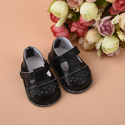 1Pair Handmade Fashion Black Shoes Clothes for 16 inch Girl Doll Shoes Gift