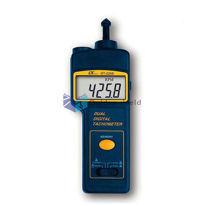LUTRON DT-2268 Photo/Contact Tachometer Revolution Meter Rotation Speed