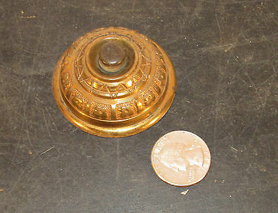 Antique Victorian cast brass fancy doorbell door bell button
