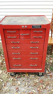 Proto Professional 10 Drawer Tool Cabinet w/Casters No Key