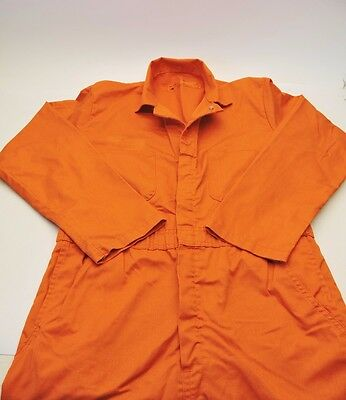 Orange Overall Coverall Men's Size 44Regular Long Sleeve Work Hunting Halloween*