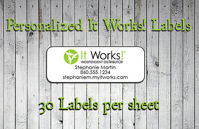 Personalized IT WORKS! Labels for Independent Distributor or Address Labels