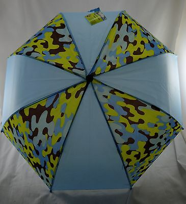 NEW! Creatology Kids Boys Girls Youth Umbrella Blue Camouflage