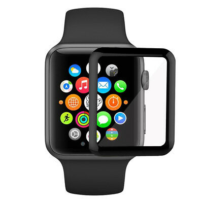 Arktis Apple Watch 42 mm FULL COVER Panzerglas - Schwarz