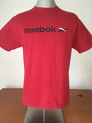 Vintage 90s REEBOK T-Shirt VTG Medium Tee Red