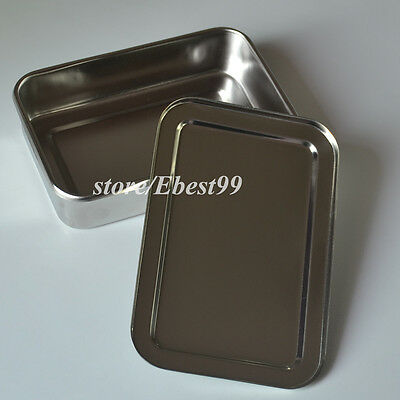 Doctor Stainless Steel Tray  Dental Container Box Medical Lab Sterilize Trays 6""