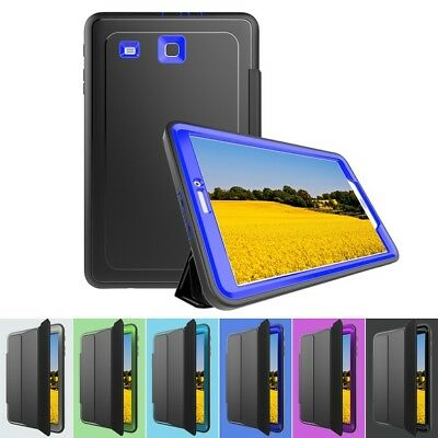 8b2baf8c9daa 360 Shockproof Heavy Duty Smart Cover Case for Samsung Galaxy Tab E 9.6