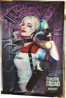 SUICIDE SQUAD 4x6 ft BANNER poster Harley-Quinn Villian Margot Robbie