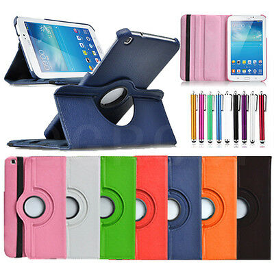 For Samsung Galaxy Tab A S2 E 4 3 Tablets 360 Rotating PU Leather Case Cover