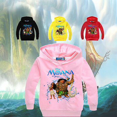 About Kids Boys Girls Hoodie Moana Hoodies Casual Cartoon Top Sweatshirt Clothes