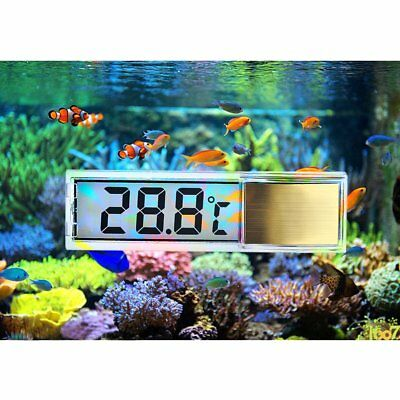 Lcd 3D Digital Electronic Measurement Fish Tank Aquarium Thermometer Sliver/Gold