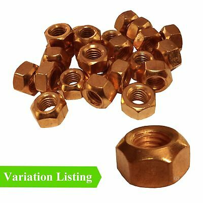 Copper Flashed Exhaust Manifold Nuts M8 x 1.25, M10 x 1.5 Pitch High Temperature