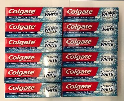Colgate Advanced White Toothpaste 100ML Pack of 6 or 12