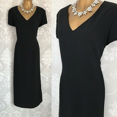 Laura Ashley DRESS SIZE 14 Black Maxi Long Cruise Gown Evening Party Occasion.