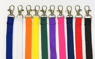 Plain Lanyard metal Neck Strap 15mm Lanyard For ID Badge Holder - FREE P&P