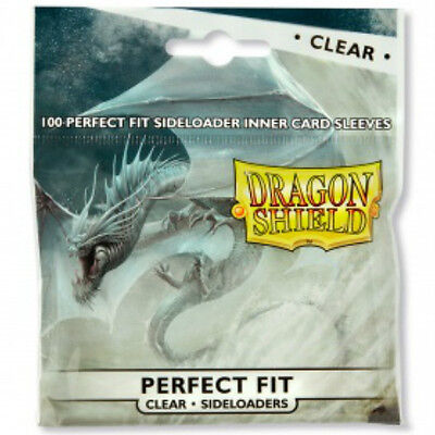 Dragon Shield Sideloaders Perfect Fit Deck Protector Sleeves - Clear (100) MTG