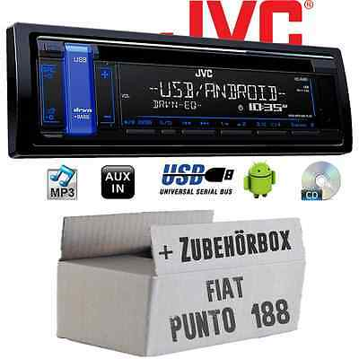 Fiat Punto 188 JVC Auto RADIO CD MP3 USB Android Autoradio auto SET DI MONTAGGIO