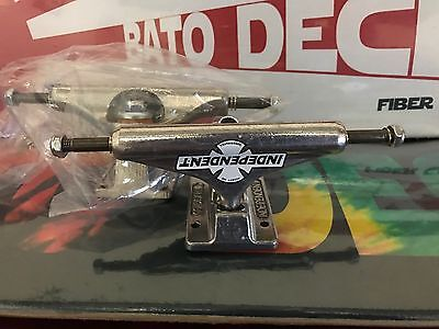 2X Independent Skateboard Trucks Stg11 Silver 129's Suit 7.5 7.75 8.0