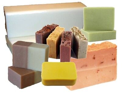 20kg NATURAL SOAP BASE + Aust CLAY Choose: Green White Pink: Melt and Pour MP