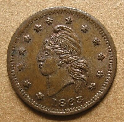 1863 PATRIOTIC CWT  6/268a  Choice AU  UNION FOR EVER - Superior Eye Appeal!