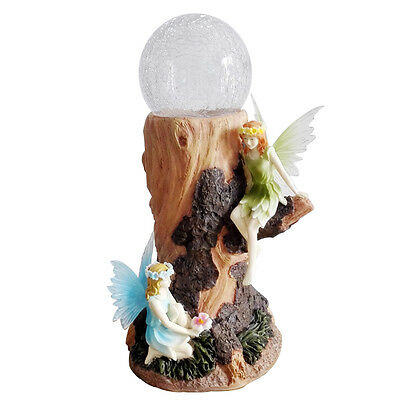 Gardenwize Solar Powered Globe Light Gravestone Memorial Fairy Angel Ornament