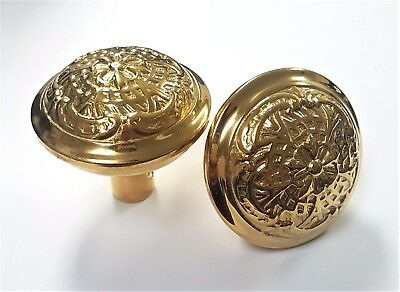 French Style Solid Brass & Heavy Decorative Floral Doorknob Sets