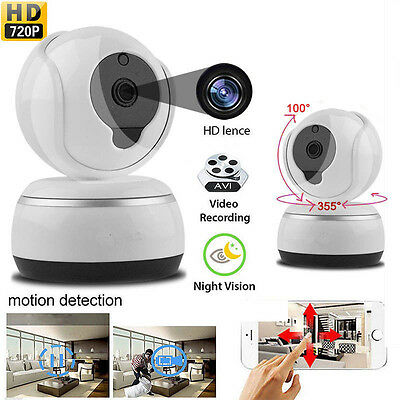 WiFi HD 720P IP Wireless Camera Home Security Network CCTV Night Vision System