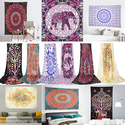 Indian Tapestry Wall Hanging Mandala Hippie Boho Gypsy Throw Bedspread Bohemian