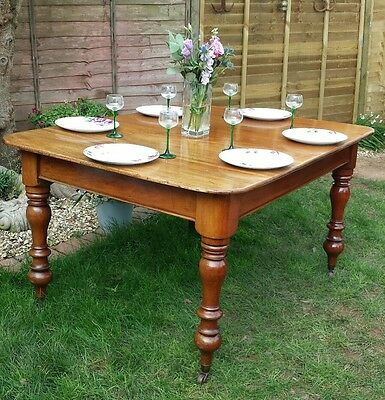 Antique victorian farm house dining table Solid mahogany