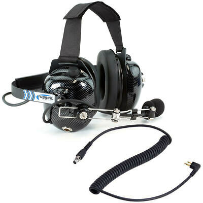 BTH Headset w/ Motorola Coil Cord Rugged Racing Radios Communication Electronics