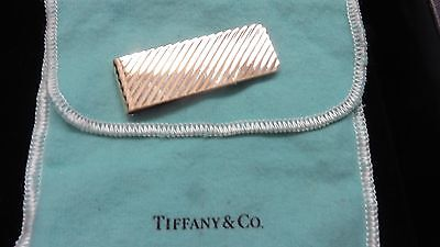 Tiffany & Co. ~ Vintage Solid 14K Gold Money Clip ~GORGEOUS~Ribbed Lines Design