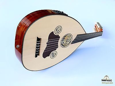 Turkish Professional Half Cut Electric Oud Ud String Instrument Aoh-101G