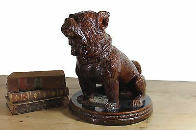 19th century treacle glazed French bulldog antique