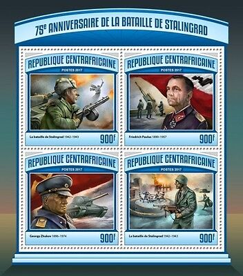 Z08 CA17101a CENTRAL AFRICA 2017 Battle of Stalingrad MNH ** Postfrisch
