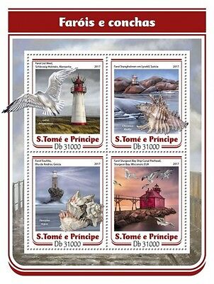 Z08 ST17110a Sao Tome and Principe 2017 Lighthouses and shells MNH ** Postfrisch