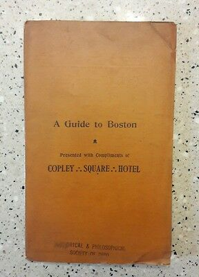 Antique 1895 Pocket Folding Map BOSTON Massachusetts- A Guide To Boston