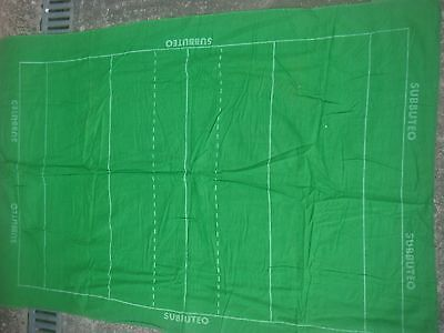 Vintage Subbuteo Rugby Accessories Pitch - Cloth