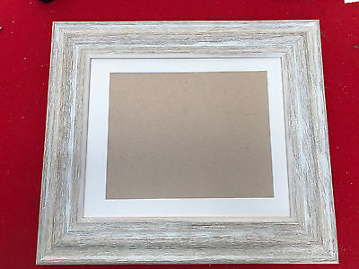 63mm IVORY SHABBY CHIC PICTURE/PHOTO FRAMES WITH PICTURE MOUNT - VARIOIUS SIZES