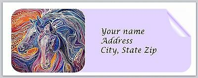 30 Personalized Return Address Labels Horse Buy 3 get 1 free (c 805)