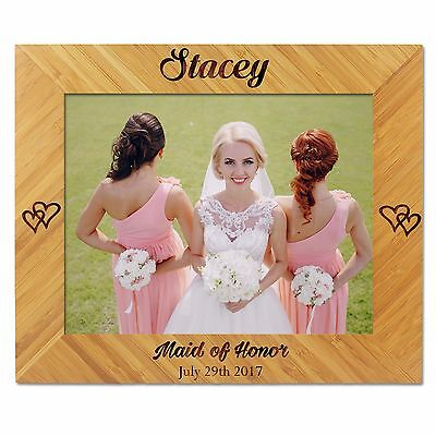 Custom Bridesmaid Photo Frame Personalized Bridesmaid Gifts Maid Of