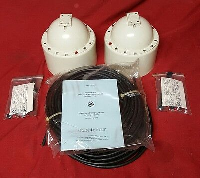 LOT (2) Gyroscope Remote Magnetic Compass Military Digicourse Model 101C     L