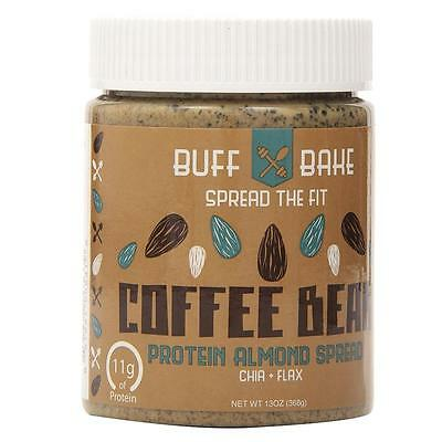 Buff Bake 11g Protein Almond Butter Coffee Bean Spread Whey Chia Flax CHOP