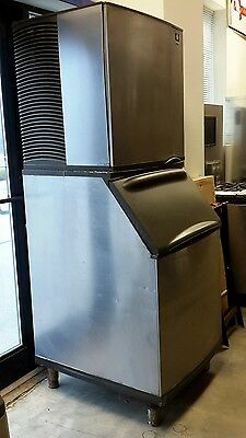 Used Manitowoc SY1204A 1205 lb Production Cube Style Ice Maker with Bin