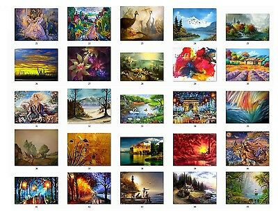 30 Personalized Return Address labels Beautiful Paintings  Buy 3 get 1 free {p2}